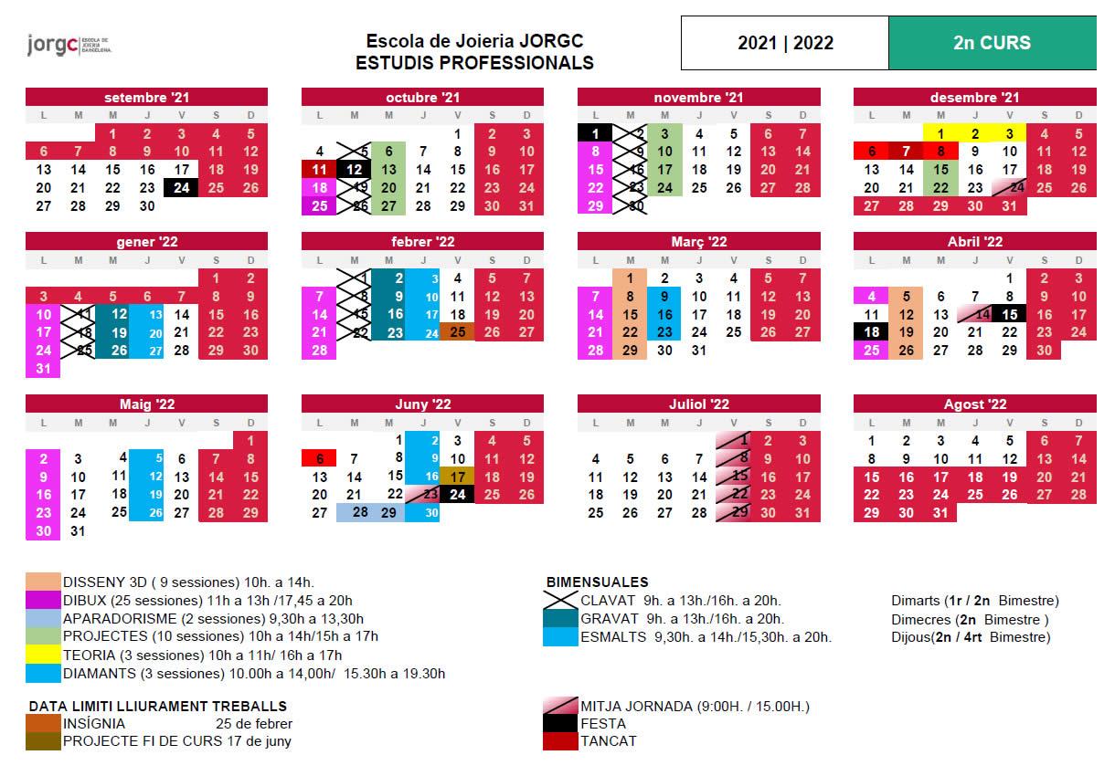 Calendari JP2 JORGC 2021-22