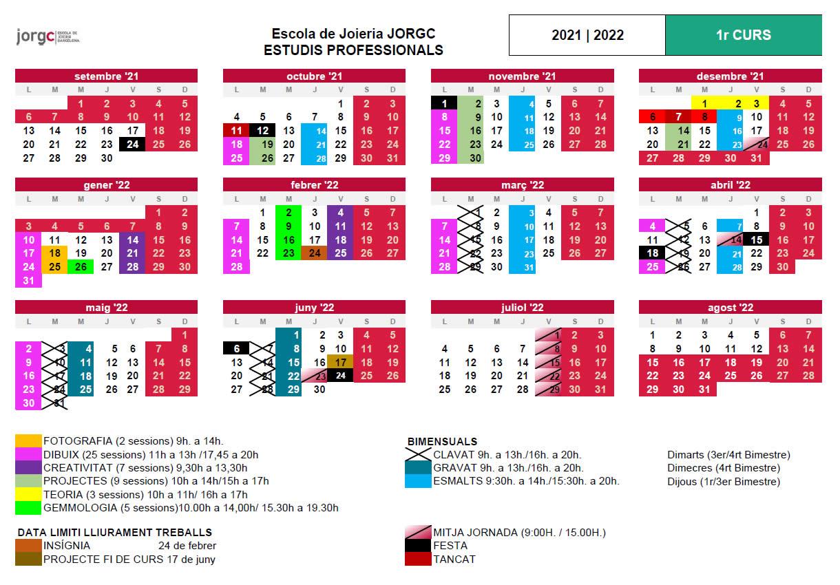 Calendari JP1 JORGC 2021-22